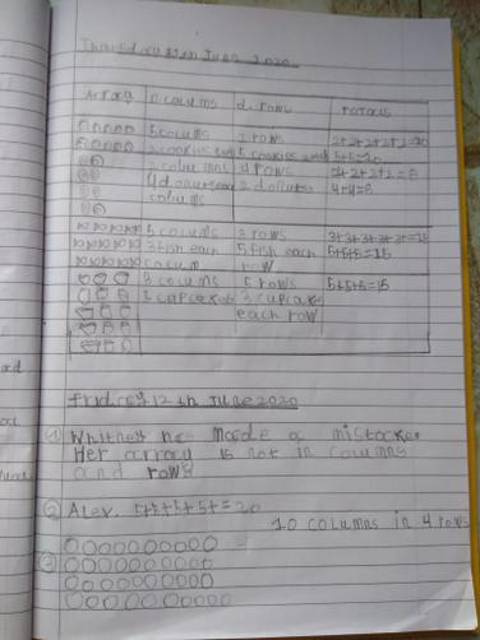 Marvellous maths array work