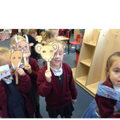 Acting out 'The Gruffalo' story.