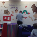 painting in our new library area