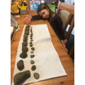 Brilliant work Amber sorting LOTS of stones in order of size