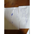 Ciara practising number formation