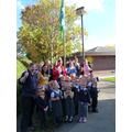 Our afternoon children with our new Green Flag