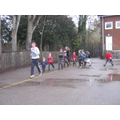 Mr Fadden leading the Elf run this morning