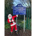Santa visits us at our Christmas Fair!