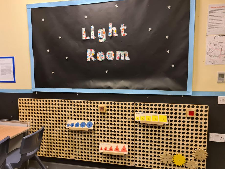 [Picture of tactile board in Light Room]