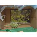 Shoe box dinosaur worlds