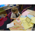 the children made Purim cards