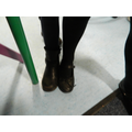 Whose feet are longer?