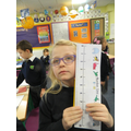 The numberline is longer than my pencil.