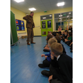 Arthur the soldier came to visit