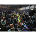 Aqua Class having a tour of the auditorium.