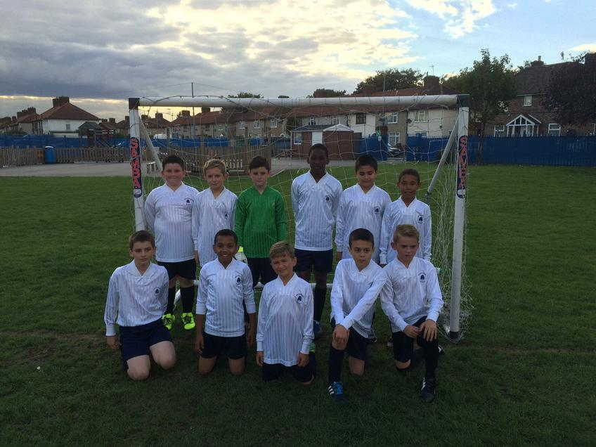 The first year 6 football match