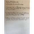 Year 6 structure of a text analysis