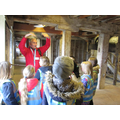 Turquoise Class having a tour of the mill.