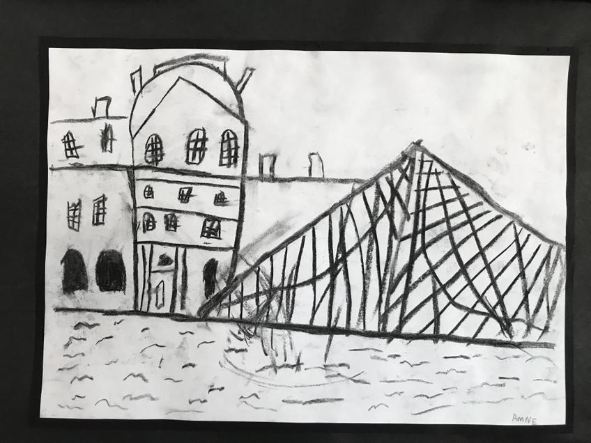 Year 2 charcoal drawing