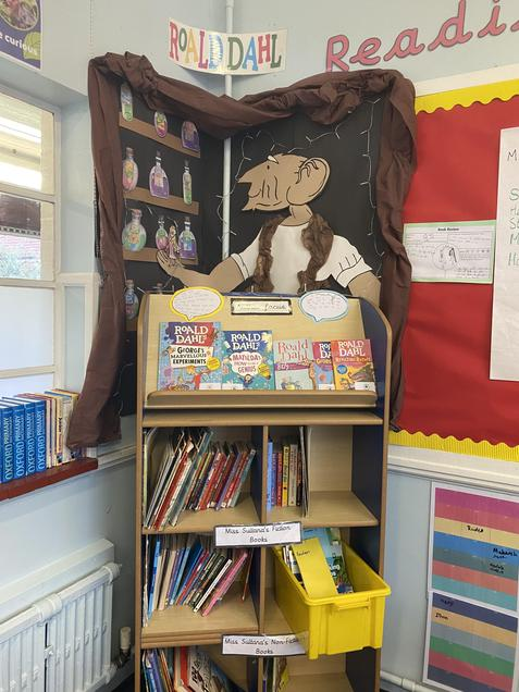 Year 3 Reading Display linked to Roald Dahl Author Focus
