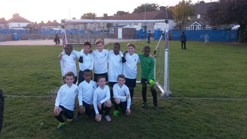 The first year 5 football match
