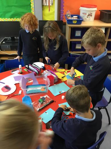 Creating our colour monsters