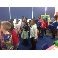 Singing Christmas songs in our Christmas jumpers!