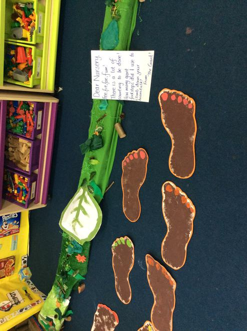 The giant from Jack and the Beanstalk came!