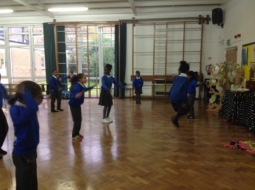 Practising our skipping