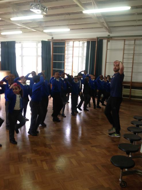 West End In Schools- Warm up