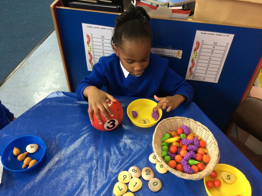 We have been practising our counting
