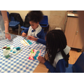 Using dyes to paint symbols of water