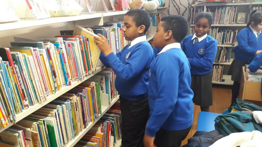 Checking out the books