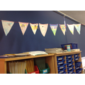And some classes made booky bunting.
