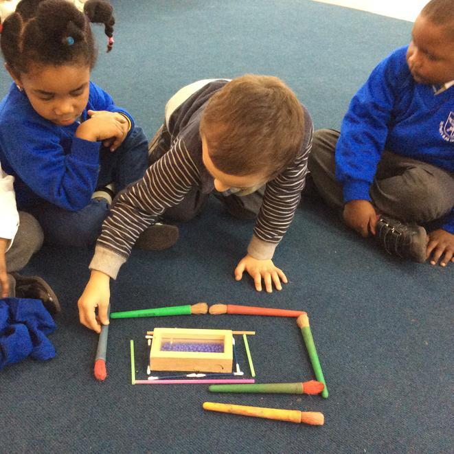 We made rectangles during grouptime
