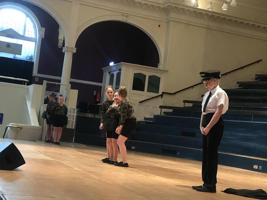 Performing a piece inspired by first female pilot