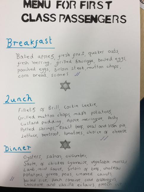 Gabbie's marvellous menu, yum!