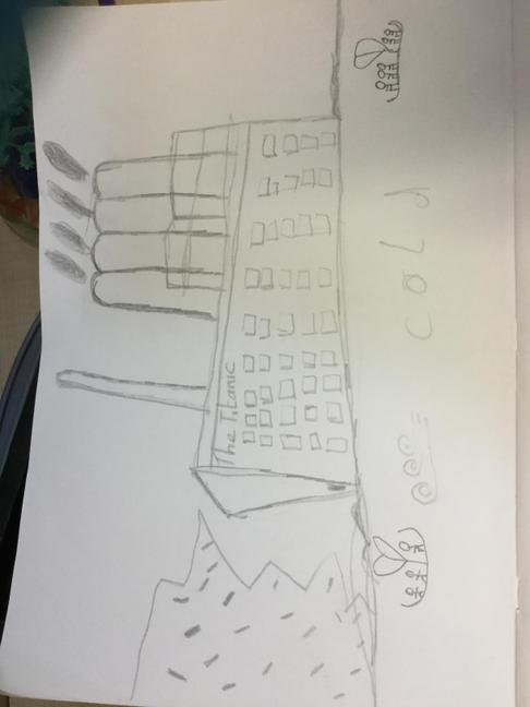 Charlie's Titanic perspective drawing