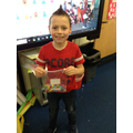 Connor won our estimation competition!