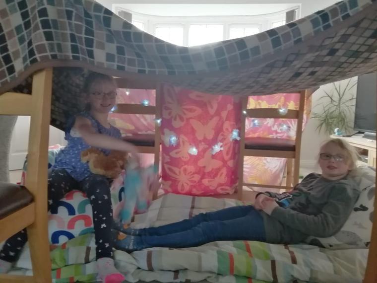 Alice and Mia's cosy reading den