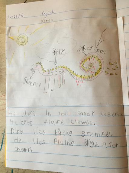 Rose's dinosaur creation