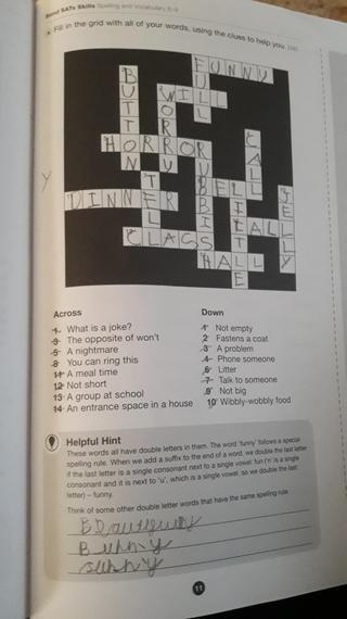 Sebastian's crossword