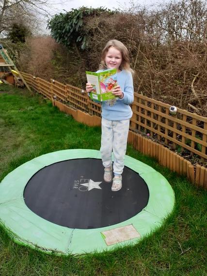 Chloe's trampoline reading