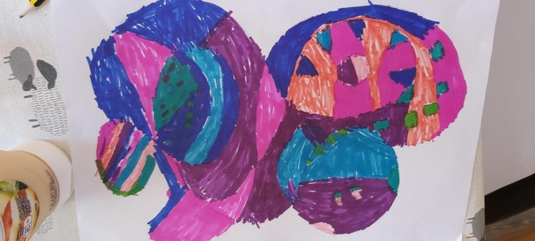 Lucy's colourful artwork