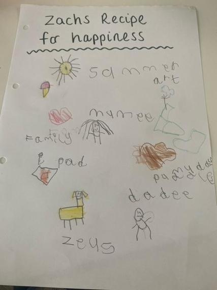 Zach's recipe for happiness