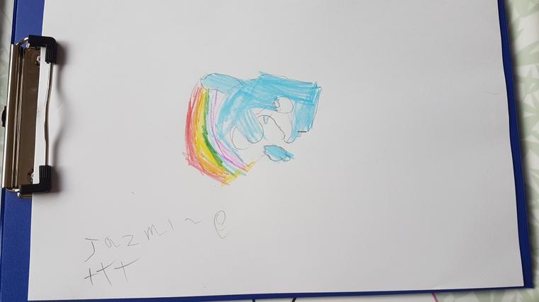 Jazmine's delightful dolphin