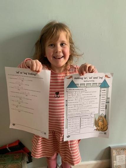 Esme's super spelling rules!