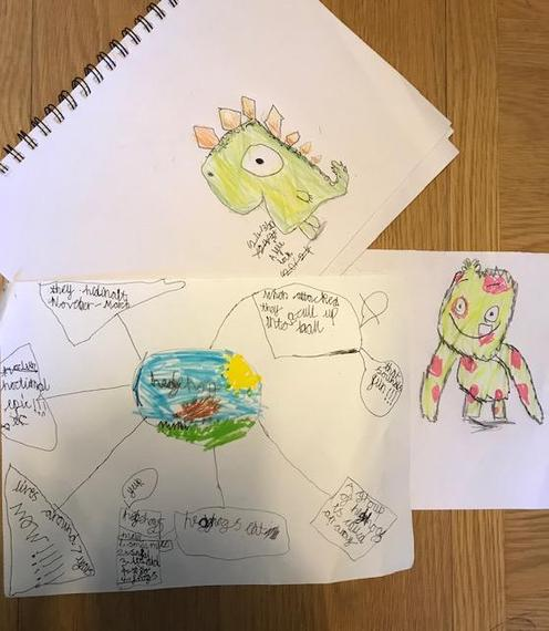 Alfie's super drawing