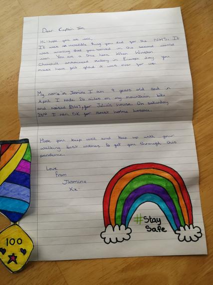 Jasmine's super letter to Captain Tom