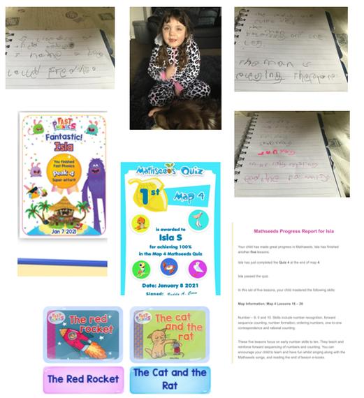 Isla's amazing home learning week 1