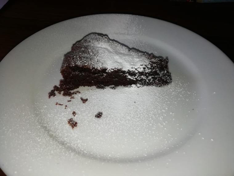 Heidi's super brownie pudding