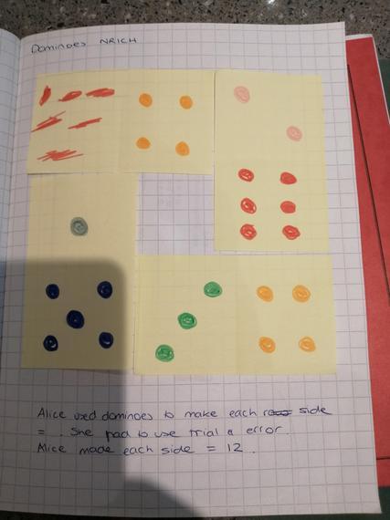 Alice's dominoes maths challenge
