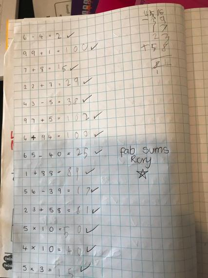 Rory's super Maths