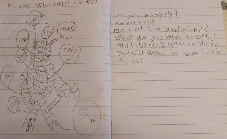 Lucy's terrific tiger writing